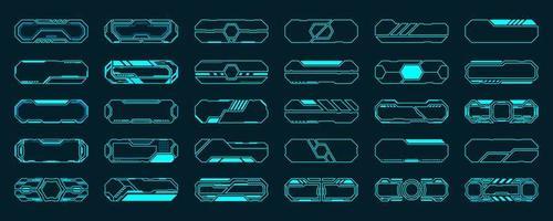 Ensemble de 30 cadres hud interface futuriste
