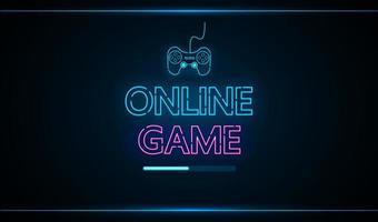 technologie de jeu en ligne interface future hud vecteur