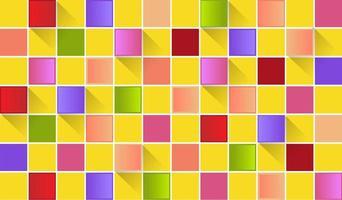 fond d'écran carré et ombres colorés