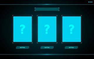 choisir une interface utilisateur de jeu de cartes hud vecteur