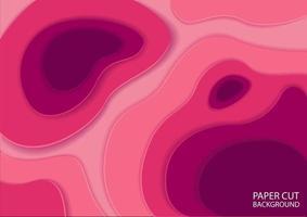conception de style de relief en papier abstrait rose réaliste