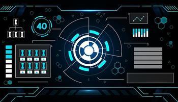 conception de technologie d'interface futuriste