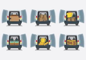 Vecteur d'icônes de démarrage automatique de voiture