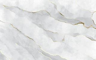 texture de marbre en pierre blanche avec des traits dorés vecteur