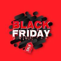 vendredi noir gouttes de lettres sur la bannière de formes géométriques vecteur
