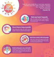 affiche pour la campagne contre le virus corona vecteur