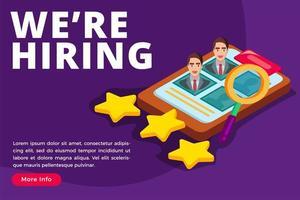 concept isométrique de recrutement et de recrutement des employés