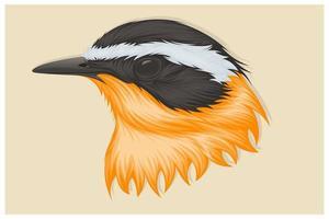 grand dessin à la main de l'oiseau kiskadee