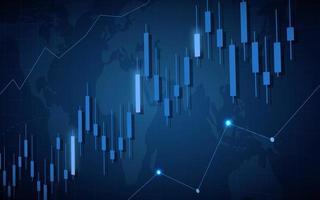 Graphique de bâton de bougie de marché boursier vecteur