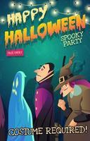 invitation de fête d'halloween