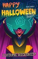 invitation de vecteur halloween
