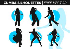 Zumba silhouettes vecteur gratuit