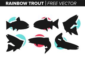 Vecteur libre de truite arc-en-ciel
