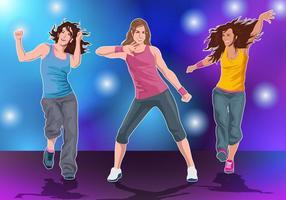 Danse de fitness zumba vecteur