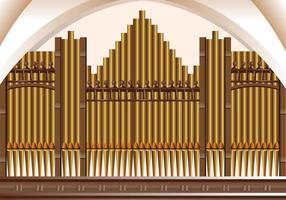 Fond d'orchestre de l'organe des tuyaux vecteur