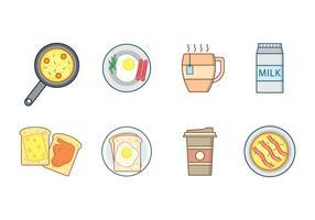 Vecteur de petit-déjeuner gratuit