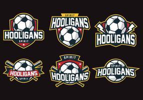 Badge des hooligans vecteur