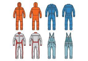 Vêtements de survêtement et de jumpsuits vecteur
