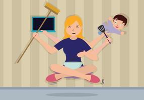 Illustration super maman gratuite vecteur