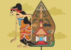 Illustration Wayang gratuite vecteur