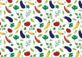 Vecteurs de motifs de légumes gratuits vecteur