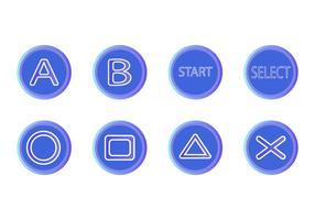 Icone d'icône de bouton d'arcade gratuit