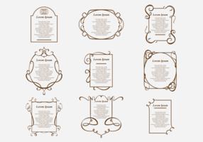 Conception de bordure pour poème vecteur