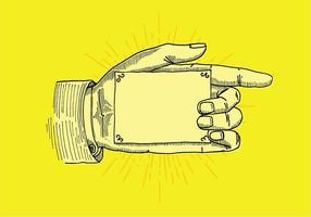 Signe de la main du pointeur vecteur