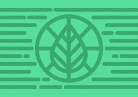 Insigne de cercle de feuille vecteur