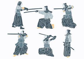 Vecteur libre d'icônes kendo
