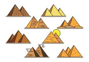 Icônes vectorielles piramide vecteur