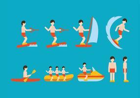 Vecteur de sports nautiques