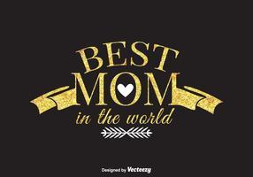 Meilleure carte maman maman dans le monde vecteur