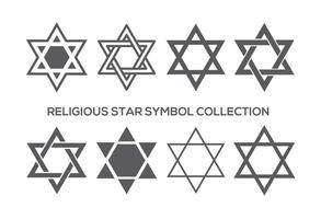 Collection religieuse de symboles étoiles vecteur