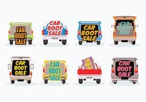Vecteur gratuit de vente de chaussures de voiture