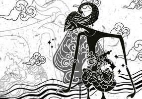 """Illustration Wayang """"Gunungan"""" vecteur"""