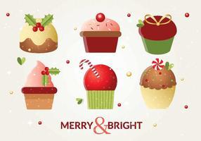 Gâteaux de Noël vectoriels gratuits