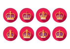 Icônes de couronnes britanniques gratuites vecteur