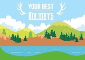 Paysage vectoriel de vacances gratuit