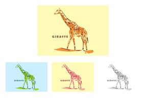 Girafe à Popart Portrait vecteur