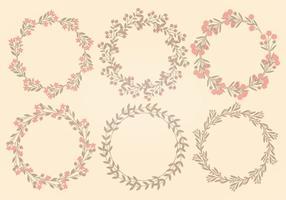 Collection de couronnes de fleurs de vecteur