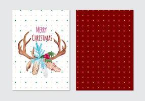 Carte vectorielle gratuite de Noël vecteur