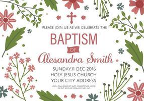 Vector libre de modèle d'invitation de baptême gratuit