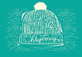 Illustration de chapeau de vecteur de Noël gratuit