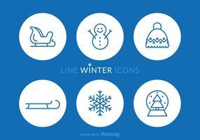 Icônes vectorielles libres de ligne hivernale vecteur