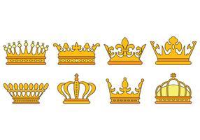 Ensemble d'icônes de la Couronne britannique vecteur