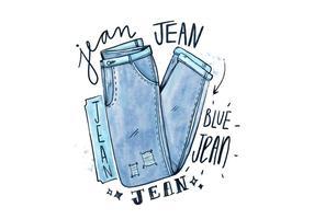 Jean bleu gratuit vecteur