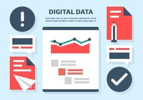 Illustration vectorielle gratuite de données numériques