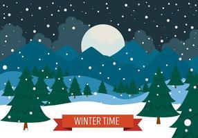Paysage vectoriel de Noël gratuit