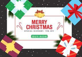 Fond de Noël gratuit vecteur